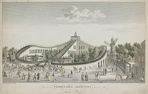 History of the roller coaster - The Promenades-Aeriennes in Paris (1817).