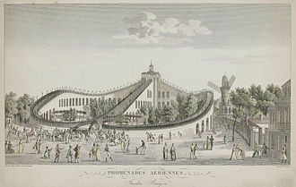 Roller coaster - The Promenades-Aériennes in Paris (1817)
