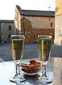 Prosecco and snacks in Tuscany.jpg