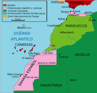 Tangier International Zone - The Zone in a divided Morocco and Western Sahara