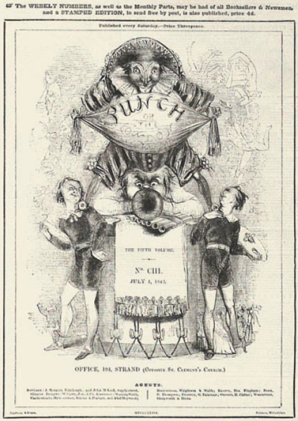 Fichier:Punch magazine cover 1843 july 1 fifth volume no 103.png