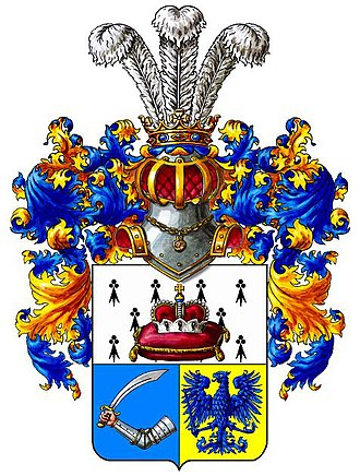 Helmet (heraldry) - Image: Pushkin Coat of arms
