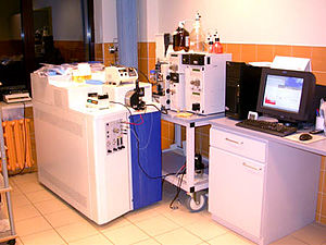 Tandem mass spectrometry - A quadrupole time-of-flight hybrid tandem mass spectrometer.