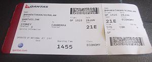 Boarding pass - Modern boarding pass for Qantas domestic