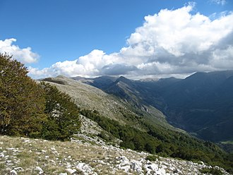 Central Mountain Range (Albania) - Jabllanicë mountain in Albania near Qarrishte.