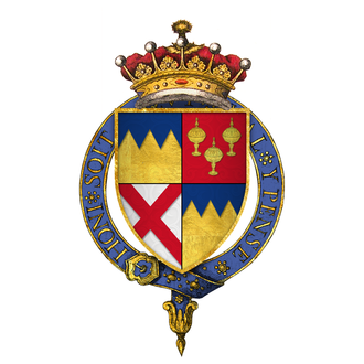 Thomas Butler, 10th Earl of Ormond - Quartered arms of Sir Thomas Butler, 10th Earl of Ormond, KG
