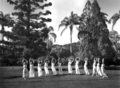 Queensland State Archives 2428 Display of eurythmics by students of the Teachers Training College 21 April 1937.png