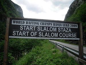 Rafting-Start slalom staza