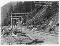Railroad grading at Alaska Juneau Gold Mine Company at Juneau, August 21, 1915 (AL+CA 426).jpg