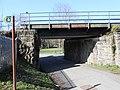 Railway bridge crosses Sarn Lane, Hope, Flintshire (2).JPG