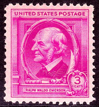 Emerson postage stamp, issue of 1940 Ralph Waldo Emerson 1940 Issue-3c.jpg