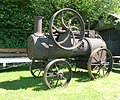 Ransomes, Sims & Jefferies, portable engine, Pontsticill, front three-quarter.jpg