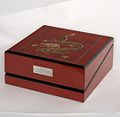 Rare Giglio Red Dragon Wooden Watch Box.jpg