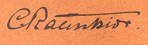 Christen C. Raunkiær - Image: Raunkiaer signature