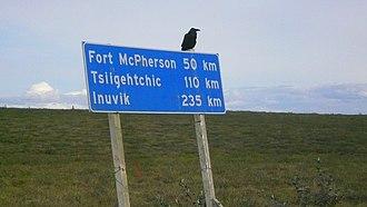 Dempster Highway - Image: Raven Inuvik Mc Phaerson