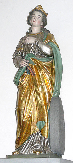 Christina of Bolsena - St Christina, by Moriz Schlachter, (c.1889)
