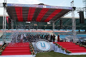 Kazım Karabekir Stadium - Image: Recep Tayyip Erdoğan and George Papandreou, Erzurum January 2011 12