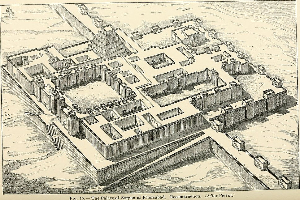 Reconstructed Model of Palace of Sargon at Khosrabad 1905