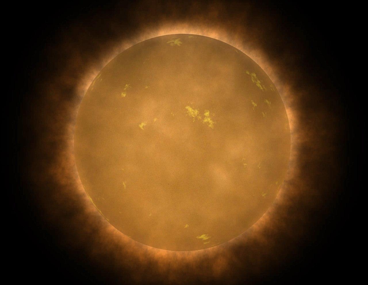 Artist's conception ของดาวแคระแดง ซึ่งดาวประเภทนี้พบอยู่มากที่สุดในย่านดาวฤกษ์ัทั้งหมด
