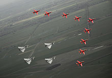 Red Arrows and Typhoons flypast for 90th Anniversary of the RAF MOD 45147908.jpg