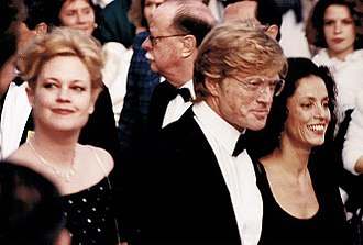 Melanie Griffith - Griffith with Robert Redford and Sônia Braga, Cannes Film Festival 1988