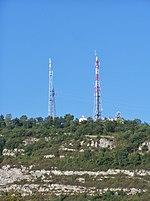 Antenne et émetteurs relais TNT/Radio sur les Monts à Chambéry