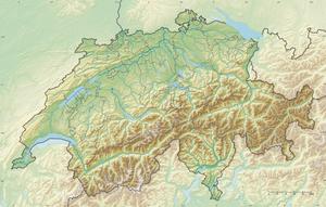 Reliefkarte: Schweiz