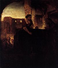Rembrandt - Christ and the Woman of Samaria - WGA19110.jpg