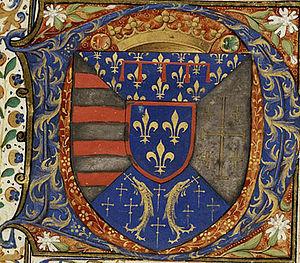 Château of Vauvenargues - The coat of arms of René of Anjou, Le Bon Roy René