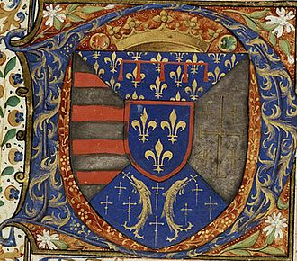 Château of Vauvenargues - The coat of arms of René of Anjou, Le Bon Roy René