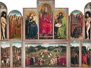 Ghent Altarpiece, when open, the feast day side