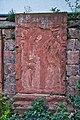 Rhodt unter Rietburg, Südliche Weinstraße 2018 - DSC00973.jpeg - Rhodt - Grabplatte, verwittert (45715439335).jpg