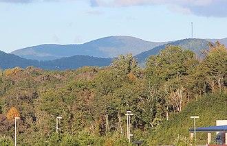 Rich Mountain (Georgia) - Rich Mountain viewed from Georgia State Route 515