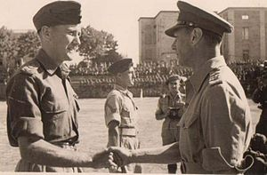 Richard Wakeford - Capt. Wakeford receiving his VC from King George VI