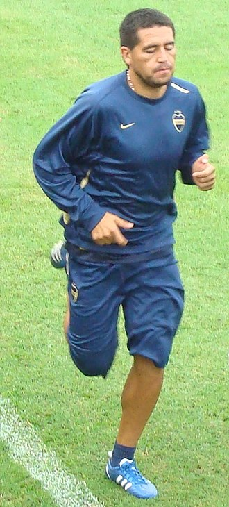 Juan Román Riquelme - Riquelme training with Boca Juniors in 2009.