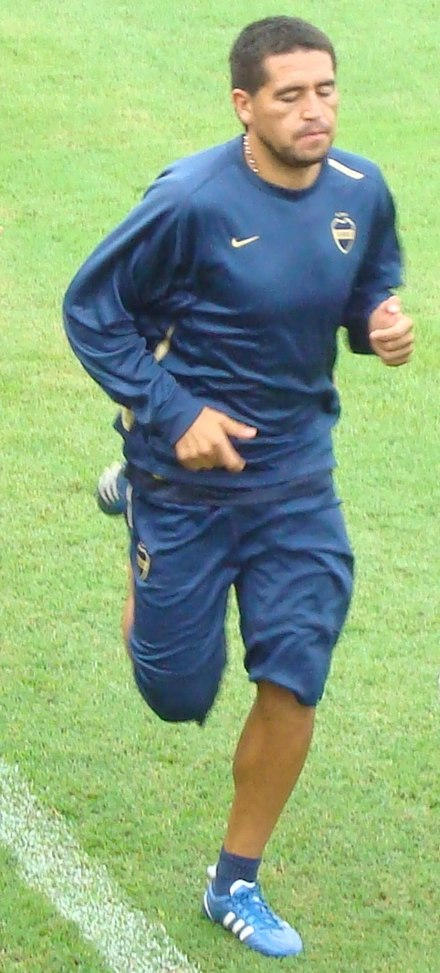 Riquelme en un entrenament amb Boca Juniors l'any 2009.