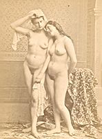 Risque Nude Girl Artist Study France old Photo CC 1880.jpg
