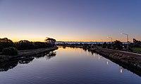 River Avon in New Brighton during sunset, New Zealand.jpg