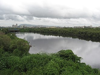 Vihar Lake - Mithi River on which the Vihar Lake was created in 1860 A.D