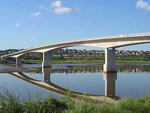 Barnstaple Western Bypass - Completed bridge over the River Taw