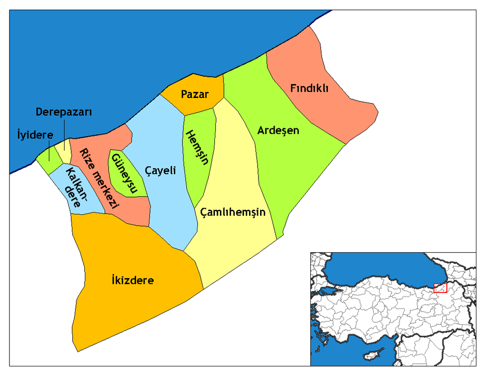 Rize districts