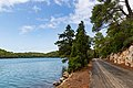 Road along the lake Veliko Jezero on Mljet, Croatia (48739047462).jpg