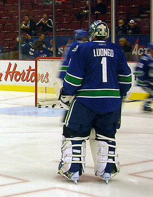 Vancouver Canucks goaltender Roberto Luongo in...