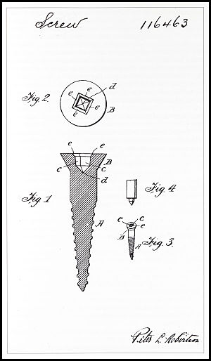 Screwdriver - Illustration from Robertson's patent application