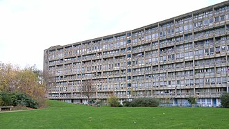Robin Hood Gardens - The west side (inner side) of the 10 storey east block