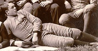 Roger Sherman (American football) - Sherman cropped from the 1890 Michigan team photograph