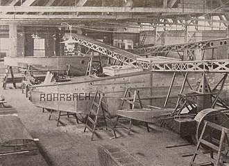 Rohrbach Ro III - Rodra under construction, January 1927