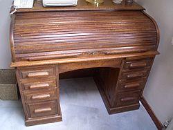 Typical rolltop desk