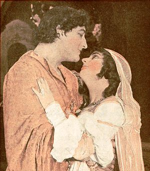 Romeo and Juliet (1916 Metro Pictures film) - Francis X. Bushman and Beverly Bayne from an ad for the film
