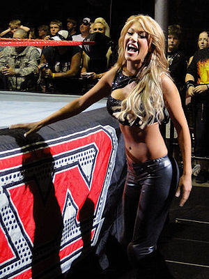 Rosa Mendes - Mendes during a Raw live event in August 2009